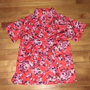 vintage cherry blossom button up